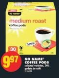 No Name Coffee PODS - 30's