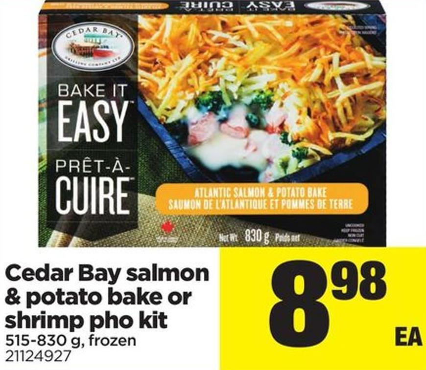 Cedar Bay Salmon & Potato Bake Or Shrimp Pho Kit - 515/830 g