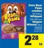 Dare Bear Paws Cookies - 140-240 G - Whippet - 200-280 G Or Wagon Wheels - 315 G