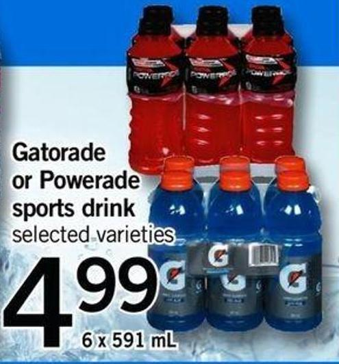 Gatorade Or Powerade Sports Drink - 6 X 591 Ml