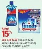 Selected Finish Automatic Dishwashing Products
