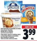 Nestlé Real Dairy Or Irresistibles Ice Cream - Frozen Dessert - Novelties - Klondike Bars Or Popsicles