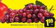 Red Seedless Grapes Product of Chile No. 1 Grade 4.39/kg