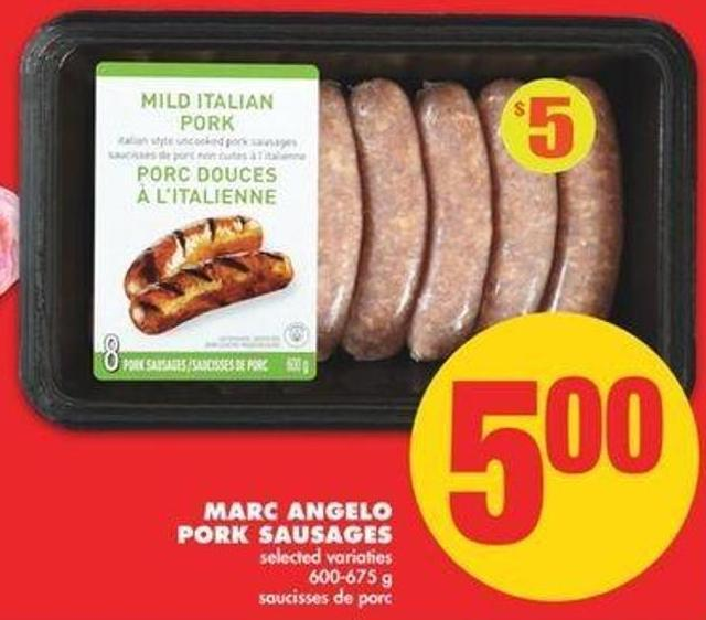 Marc Angelo Pork Sausages - 600-675 G