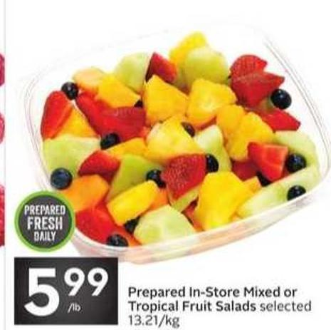 Prepared In-store Mixed or Tropical Fruit Salads