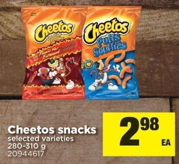 Cheetos Snacks - 280-310 G