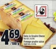 Swiss Le Gruyère Cheese