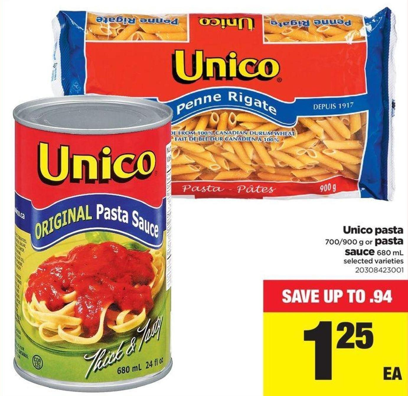 Unico Pasta - 700/900 G Or Pasta Sauce - 680 Ml