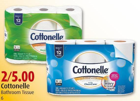 Cottonelle Bathroom Tissue 6