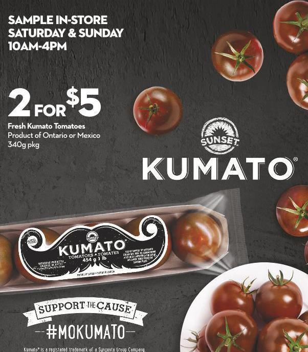 Fresh Kumato Tomatoes Product of Ontario or Mexico 340g Pkg