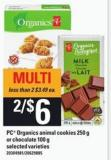 PC Organics Animal Cookies - 250 G Or Chocolate - 100 G