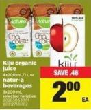 Kiju Organic Juice - 4x200 Ml/1 L Or Natur-a Beverages - 3x200 Ml