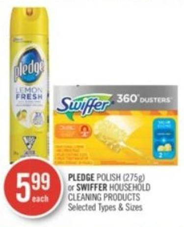 Pledge Polish (275g) or Swiffer Household Cleaning Products