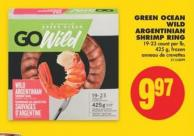 Green Ocean Wild Argentinian Shrimp Ring - 19-23 Count Per Lb - 425 g
