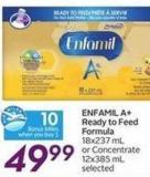 Enfamil A+ Ready To Feed Formula - 10 Air Miles Bonus Miles