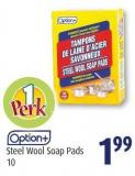 Option+ Steel Wool Soap Pads 10