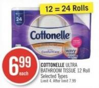 Cottonelle Ultra Bathroom Tissue 12 Roll