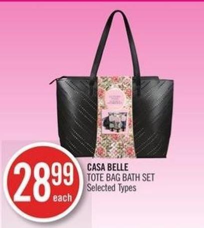 Casa Belle Tote Bag Bath Set