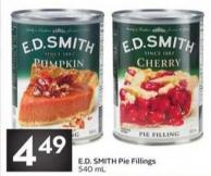E.d. Smith Pie Fillings 540 mL