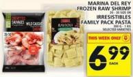 Marina Del Rey Frozen Raw Shrimp Or Irresistibles Family Pack Pasta