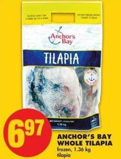 Anchor's Bay Whole Tilapia - 1.36 Kg