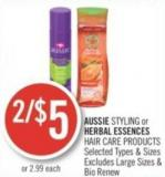 Aussie Styling or Herbal Essences Hair Care Products