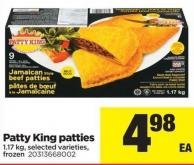 Patty King Patties - 1.17 Kg