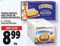 Yehuda Matzos - King David Or Jerusalem Matzos 2 - 2.26 Kg