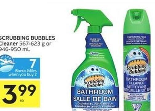 Scrubbing Bubbles Cleaner - 7 Air Miles Bonus Miles
