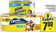 Charmin Essentials Bathroom Tissue Or Bounty Essentials Paper Towels