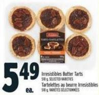 Irresistibles Butter Tarts