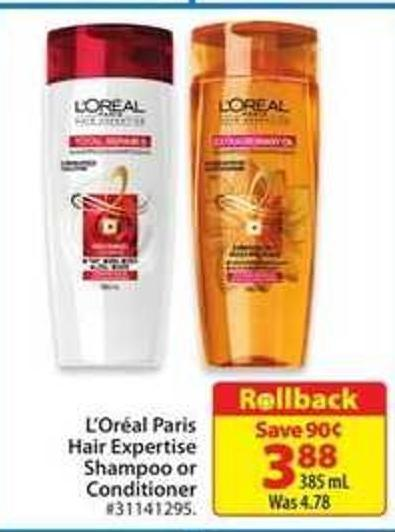 L'Oreal Paris Hair Expertise Shampoo or Conditioner