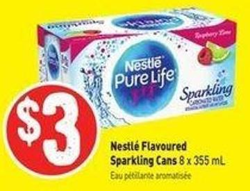 Nestlé Flavoured Sparkling Cans 8 X 355 mL