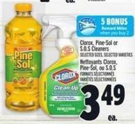 Clorox - Pine-sol Or S.o.s Cleaners
