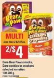 Dare Bear Paws Snacks - Dare Cookies Or Crackers - 100-280 G