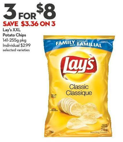Lay's Xxl Potato Chips 141-255g Pkg