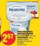 Philadelphia Cream Cheese 227-250 g - Dip 227 g or Frosting 280 g
