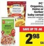 PC Organics - Heinz Or Gerber Baby Cereal - 227 g