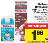 Neilson Flavoured Milk 1 L Or 5% - 10% Cream - 473 mL