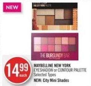 Maybelline New York Eyeshadow or Contour Palette