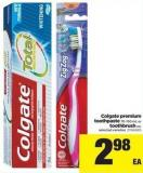 Colgate Premium Toothpaste - 70-150 mL Or Toothbrush Ea.