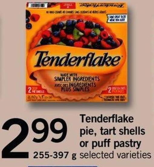 Tenderflake Pie - Tart Shells Or Puff Pastry - 255-397 G
