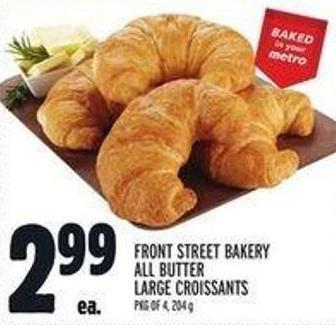 Front Street Bakery All Butter Large Croissants