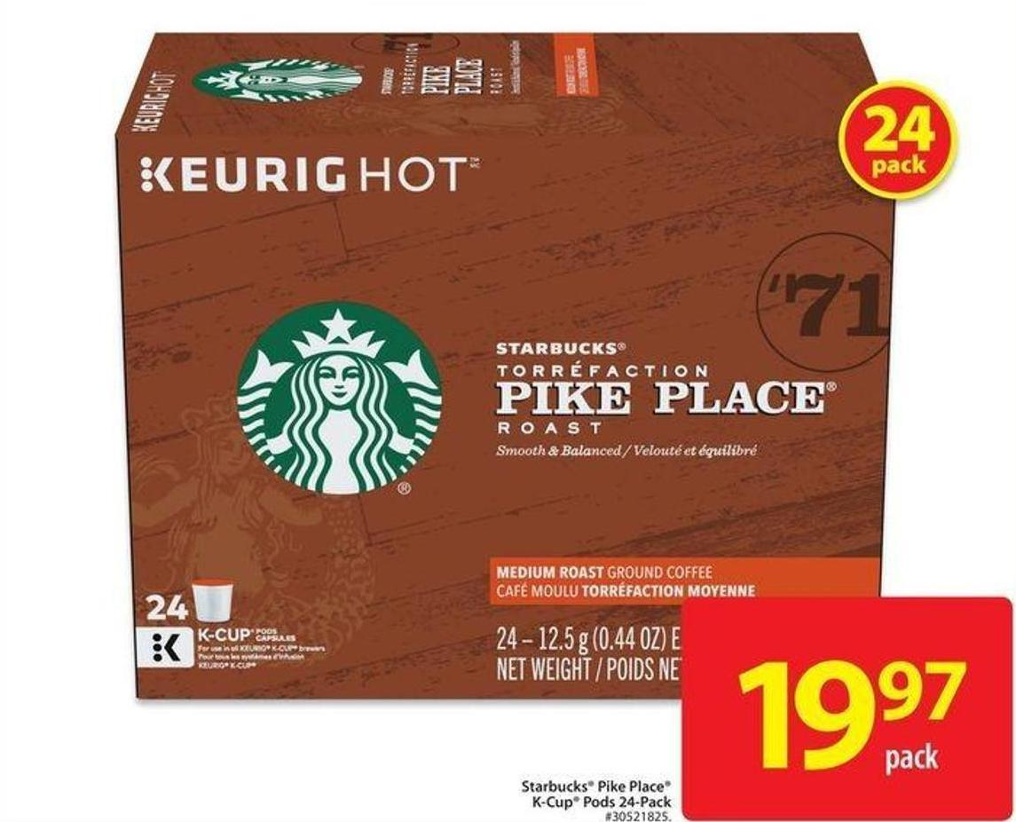 Starbucks Pike Placek-cup Pods 24-pack