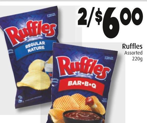 Ruffles Assorted 220g
