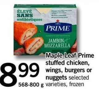 Maple Leaf Prime Stuffed Chicken - Wings - Burgers Or Nuggets - 568-800 G