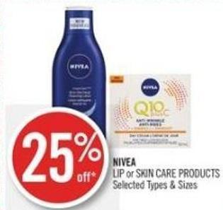 Nivea  Lip or Skin Care Products