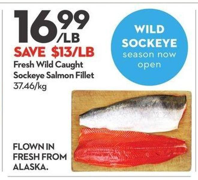 Fresh Wild Caught Sockeye Salmon Fillet