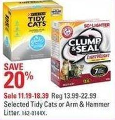 Selected Tidy Cats or Arm & Hammer Litter