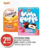 Pepperidge Farms  Goldfish Crackers - Dare Cookies or Bear Paws